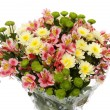 Stock Photo: Bouquet from different flowers, on white background, is isolat