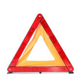 Traffic sign cautiously, isolated. — Stock Photo