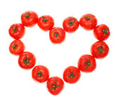 Heart from tomatoes. — Stock Photo