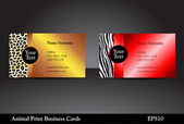 Animal Print Business Cards — Stock Vector