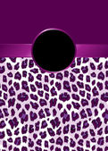 Purple Leopard Print with Ribbon and Rosette — Stock Vector