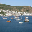 Landscape sea and yachts, Bodrum - Stock Photo