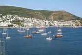 Landscape sea and yachts, Bodrum — Stock Photo