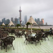 The table of a cafe in shanghai china. - Stock Photo