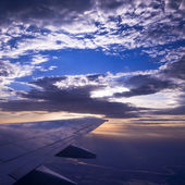 The beautiful sunset that view from a airbus . — Stock Photo