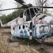 Old Soviet military chopper - Stock Photo