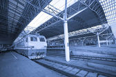 Train,stop in the railway station shanghai china. — Stock Photo