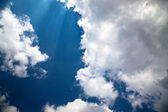 Blue sky and white cloud — Stock Photo