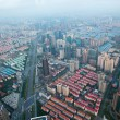 Bird's eye view of Shanghai Pudong at night — Photo