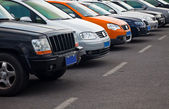 Cars parking — Stock Photo