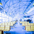 Interior of airport — Stock Photo