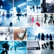 Business-Reisen-Foto-Sammlung — Stockfoto