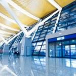 Walkway of airport — Stock Photo