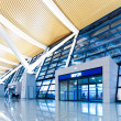 Walkway of airport - Stockfoto
