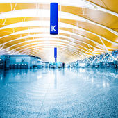 Walkway of airport — Stockfoto
