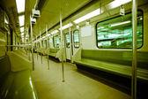 Interior of subway train — Stock Photo