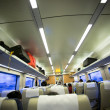 Interior of train — Stock Photo