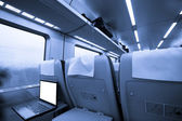Interior of train — Stock Photo