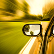 Car on the road with motion blur background. — Stock Photo
