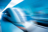 Train motion blur — Stock Photo