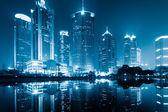 Nacht uitzicht van shanghai — Stockfoto