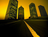 The abstract background of the road and city . — Foto Stock