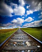Train motion blur — Stock Photo