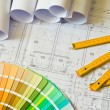 Stock Photo: Architectural drawing
