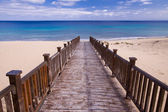 Footbridge to the beach — Stock Photo