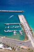 Přístavu porto santo, vertikální — Stock fotografie