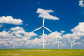 Windmills with clouds — Stock Photo