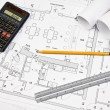 Architectural concept blueprint — Stock Photo