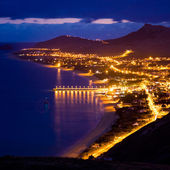 Porto Santo island by night — Stock Photo