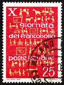 Znaczek włochy 1968 rozwoju usług pocztowych — Zdjęcie stockowe