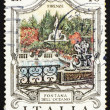 Postage stamp Italy 1974 Oceanus Fountain, Florence — Stock Photo