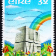 Stock Photo: Postage stamp Ireland 1992 Rainbow and LOVE Etched in Stone