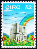 Postage stamp Ireland 1992 Rainbow and LOVE Etched in Stone — Stock Photo