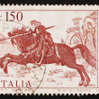 Postage stamp Italy 1976 St. George, Painting by Vittore Carpacc — Stock Photo