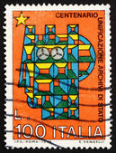 Postage stamp Italy 1975 Stylized Syracusean Italia — Stock Photo