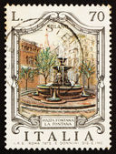 Postage stamp Italy 1975 Piazza Fontana, Milan, Italy — Stock Photo