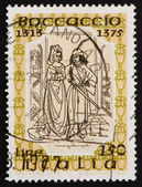 Postage stamp Italy 1975 Frontispiece for Fiametta, by Giovanni — Stock Photo
