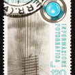 Postage stamp Italy 1978 Telegraph Wires and Lens — Stock Photo