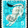 Postage stamp Switzerland 1966 Ermine, Mustela Erminea, short-ta — Stock Photo