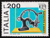 Postage stamp Italy 1976 Hand Canceler, 19th Century — Stock Photo