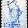 Royalty-Free Stock Photo: Postage stamp Italy 1960 Statue of Roman Consul on Way to the Ga