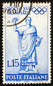 Postage stamp Italy 1960 Statue of Roman Consul on Way to the Ga — Stock Photo
