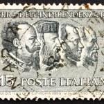 Постер, плакат: Postage stamp Italy 1959 Victor Emanuel II Garibaldi Cavour M