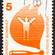 Stock Photo: Postage stamp Germany 1971 Matches Cause Fires, Accident Prevent