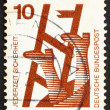 Postage stamp Germany 1972 Broken Ladder, Accident Prevention — Stock Photo #10122527