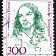 Postage stamp Germany 1989 Fanny Hensel, Composer, Conductor — Stock Photo